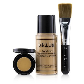 STILA Stay All Day Foundation, Concealer & Brush Kit Size: 2pcs
