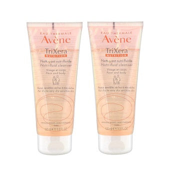 AVENE TriXéra Nutrition Nutri-Fluid Cleanser 2x100ML