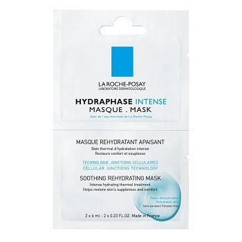 La Roche Posay Hydraphase mask sachets ideal for travel 10 x 6ml