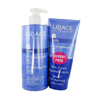 Uriage Baby Foaming and Cleansing Cream 500ml +1st Gentle Everyday Care 200ml Free