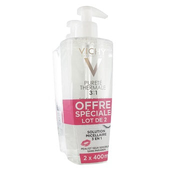 Vichy Pureté Thermale One Step Cleansing Micellar Solution 2 x 400ML