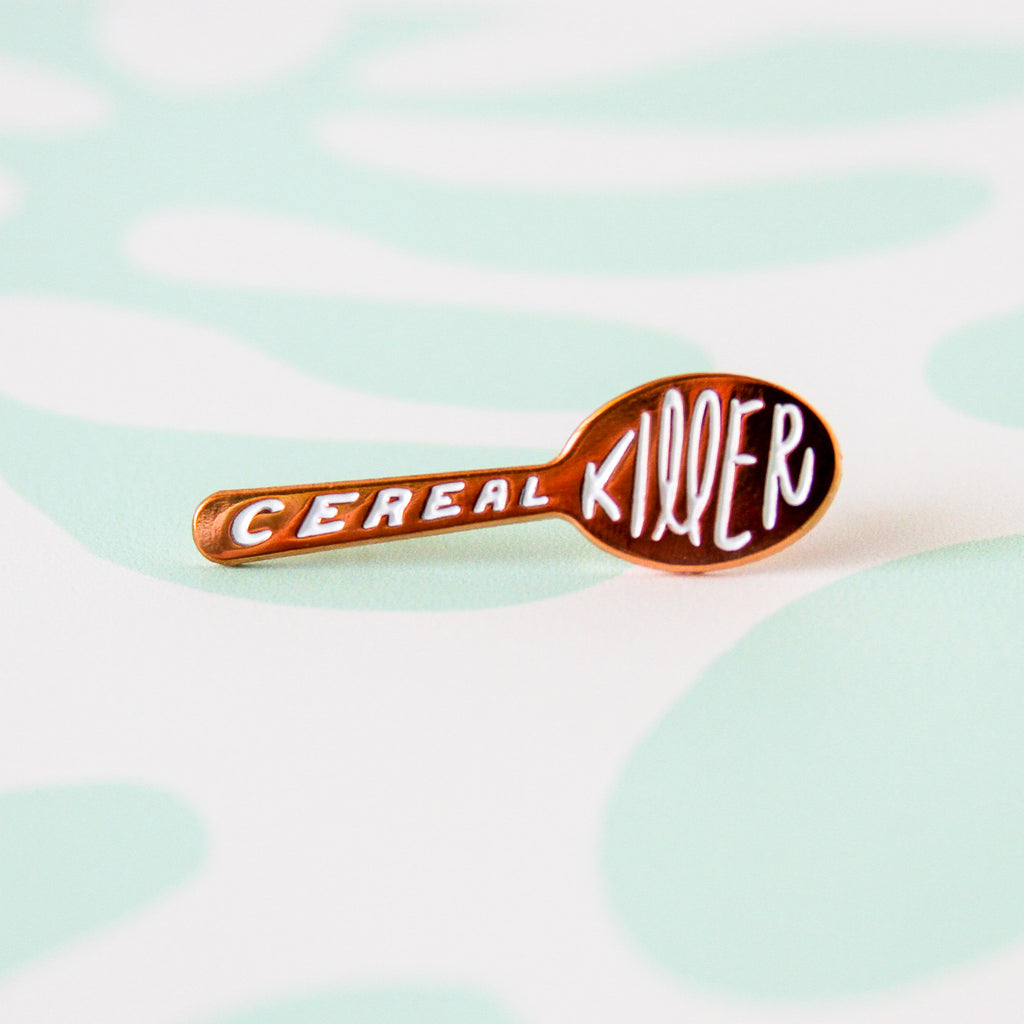 Cereal Killer Rose Gold Soft Enamel Pin - Simply Shop