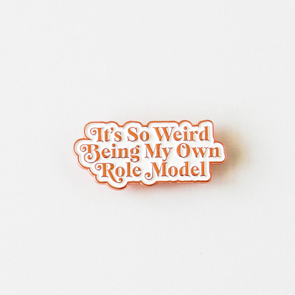 Mindy Project Rose Gold Soft Enamel Pin - Simply Shop