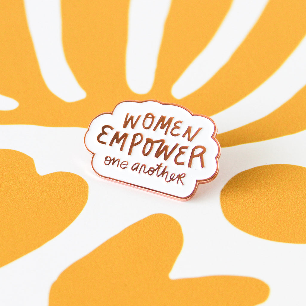 Women Empower Rose Gold Soft Enamel Pin - Simply Shop