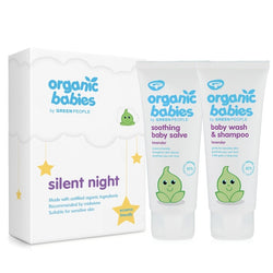 Organic Babies Silent Night Baby Gift - Lavender Baby Wash & Baby Salve