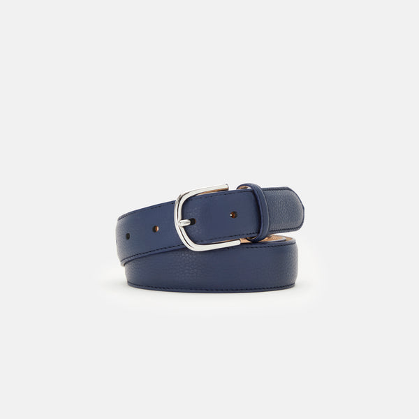 GRAINED LEATHER BELT STRAP