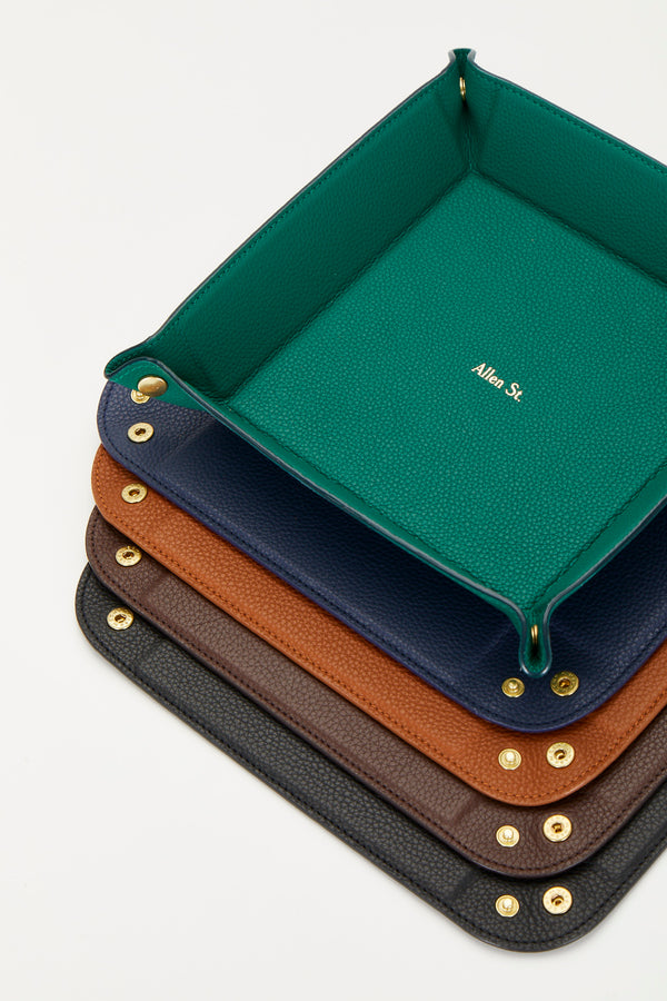 GRAINED LEATHER PIN-TRAY