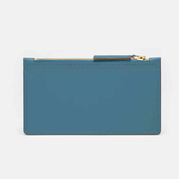 MAGNOLIA - ZIP WALLET - BLUE JEANS