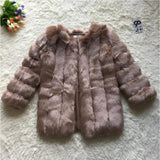 CP Faux Fur Factory Fox Artifical Fur Coat Women Winter Warm Long Sleeve Faux Fur Coat Overcoat Female Faux Fur Jacket Coat CP10