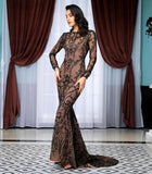 Fabuleux Femme Black Open Back Glitter Bodycon Long Dress