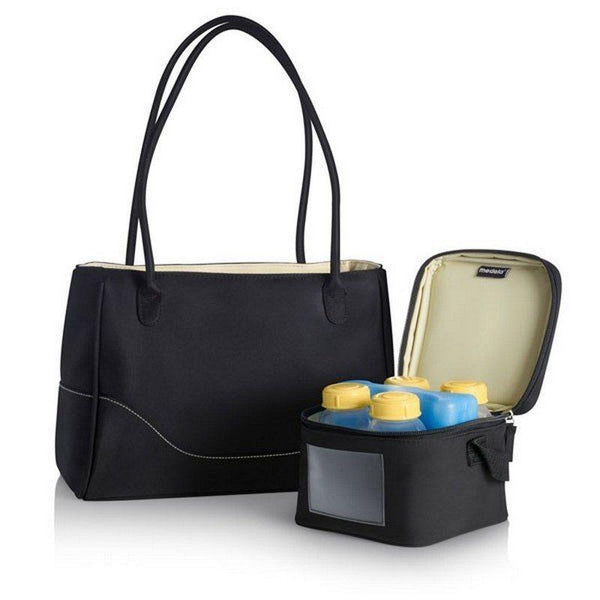 Bolso con cooler y botellas Medela City Style - Motherna