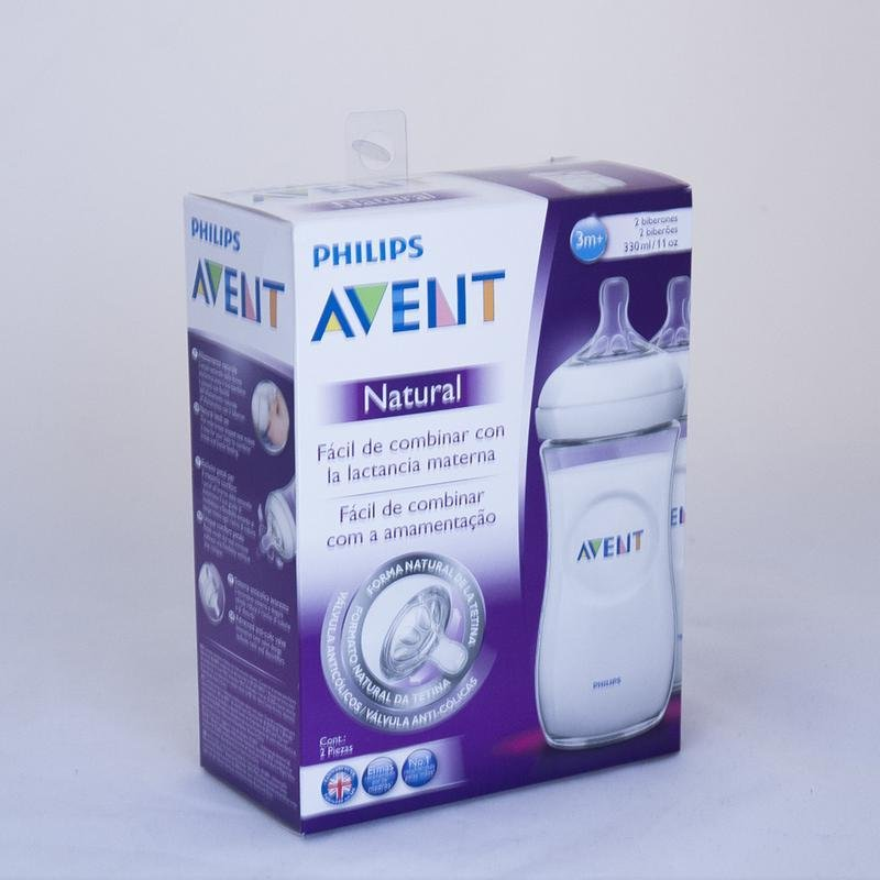 Pack 2 mamaderas Avent Natural 330ml - Motherna