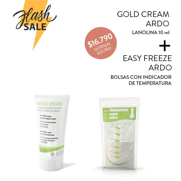 Pack Ardo Gold Cream + Bolsas Easy Freeze 20 uns - Motherna