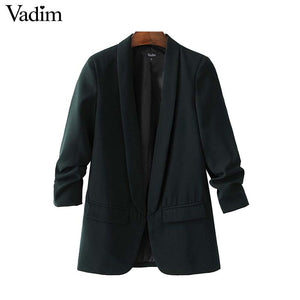 women elegant office blazer
