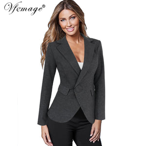 Women Turn Down Collar Business Blazer