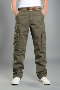 Mens Cargo Pants Multi Pockets