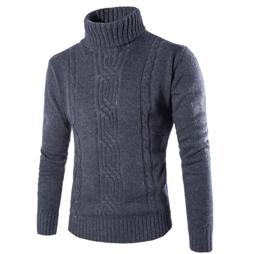 2018 Men Thick Warm Grey Sweater
