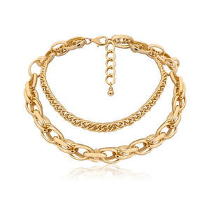 Linked Chain Choker Necklace - DB Women