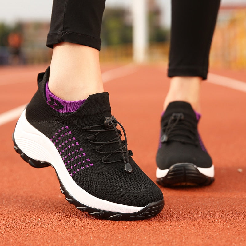 Breathable Flat Mesh Sneakers - DB Women