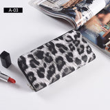 Leather Women Wallet Classic Leopard Animal Print