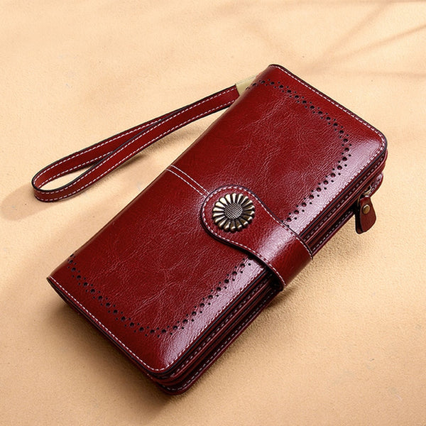 Women Clutch Leather Wallet Female Long Wallet
