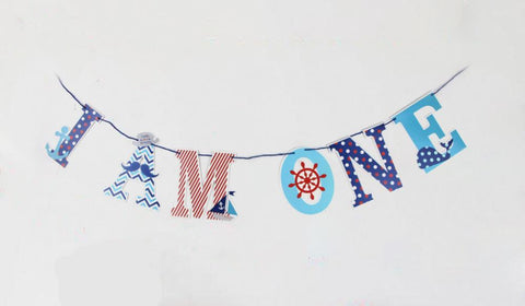 "Nautical Sailor Anchor ""I am One"" Paper Garland"