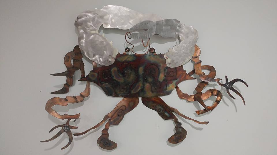 Crab with alcohol ink