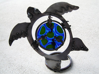 Turtle with glass (blue)