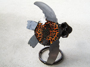 Turtle with glass (orange and black)