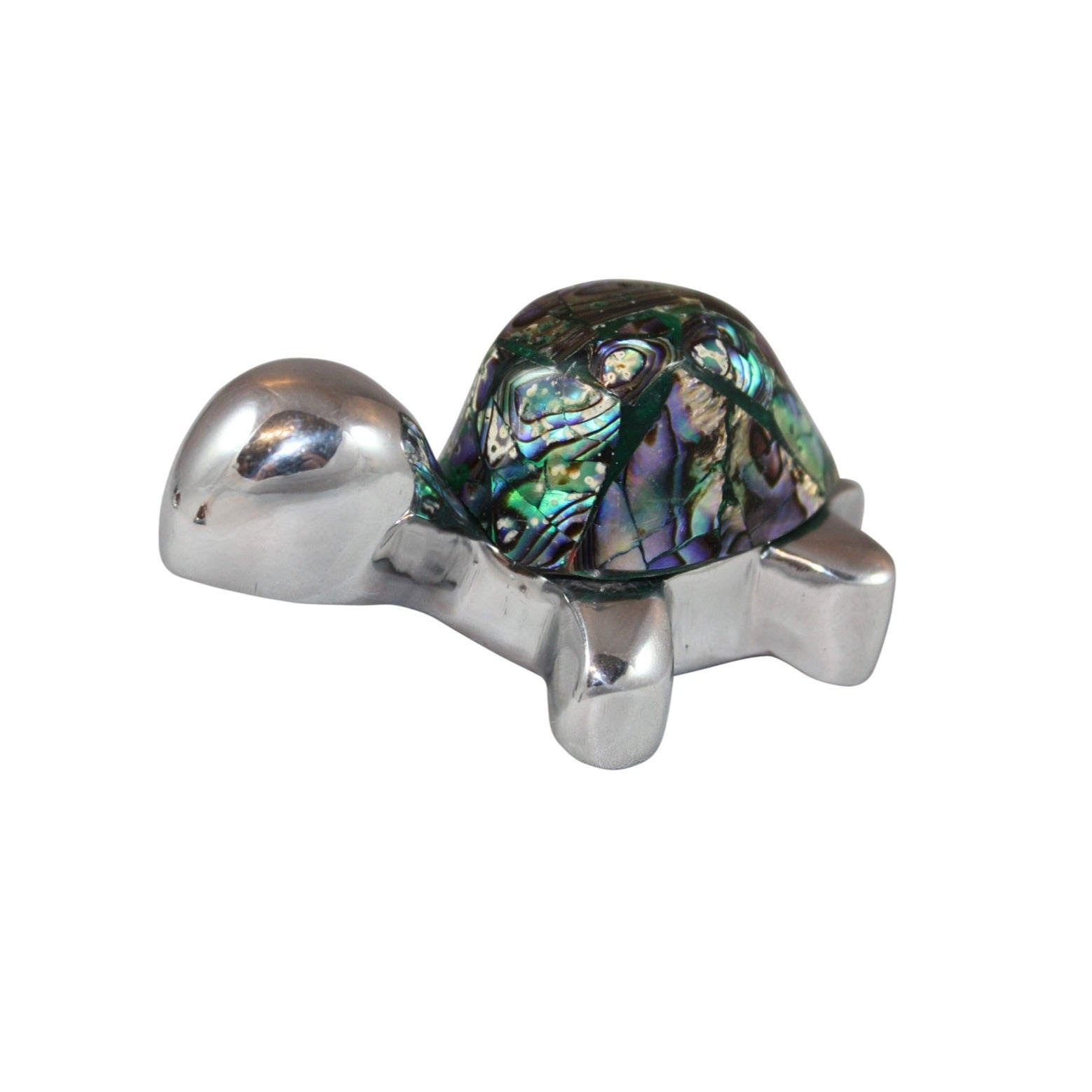 Land Turtle Mini Figurine Paua Shell