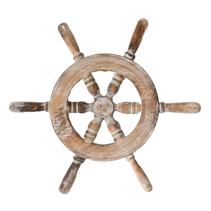Ships Wheel White 35Cm