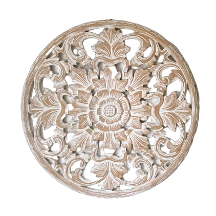 Wall Art Carved Round 50Cm