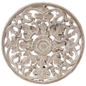 Carved Timber Round Wall Art 100cm