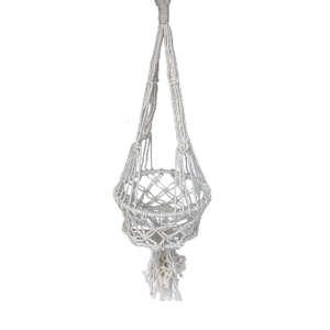 Macrame Pot Plant Holder Single