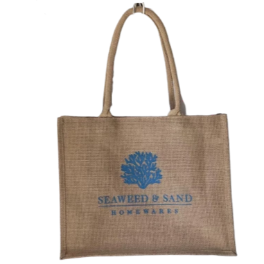 Seaweed & Sand Jute Shopping Bag
