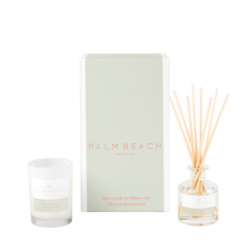 Palm Beach Mini Candle & Diffuser Gift Pack Clove & Sandalwood