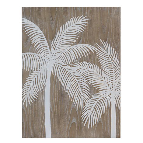 Carved Palms Wall Decor 60x80cm