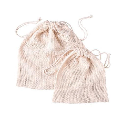 Organic Cotton Produce Bags - Set of 6