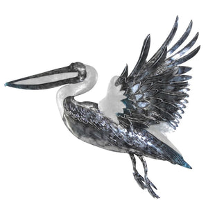 Flying Pelican Capiz Wall Art