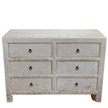Elm Chest of Drawers White