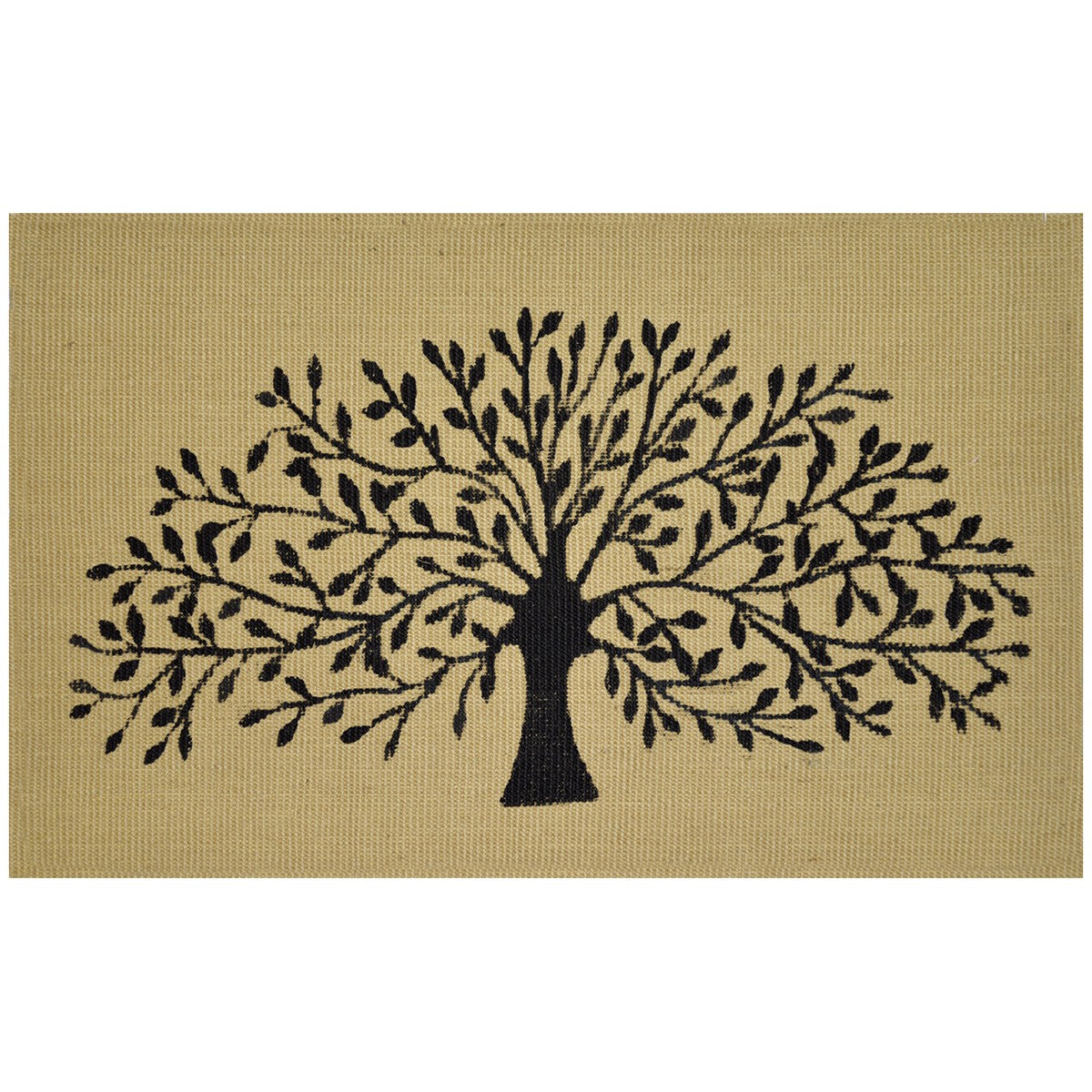 Jute Black Tree Door Mat