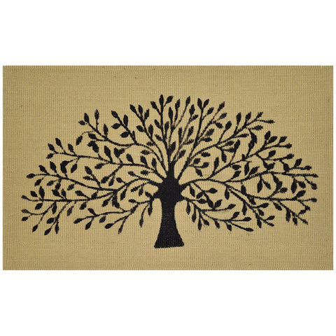 Jute Black Tree Doormat