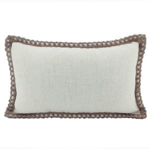 Cushion Jute & Linen Beige 30X50