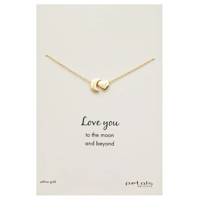 "Gold Necklace ""Love You"""