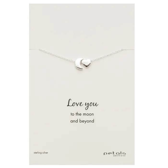 "Sterling Silver Necklace ""Love You"""