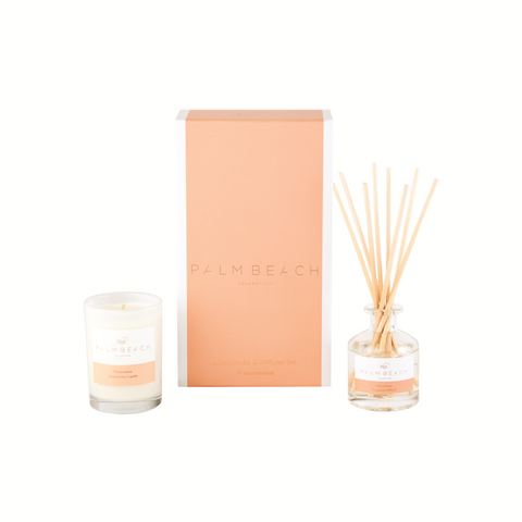 Palm Beach Mini Candle & Diffuser Gift Pack Watermelon