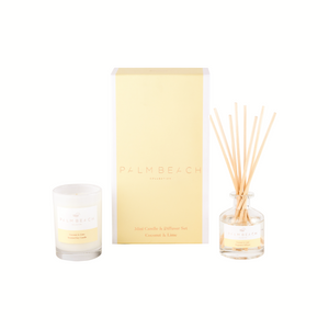 Palm Beach Mini Candle & Diffuser Gift Pack Coconut & Lime