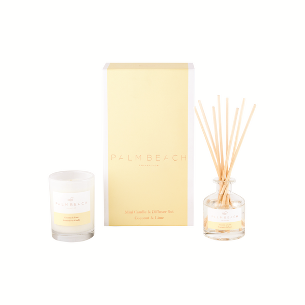 Palm Beach Collection Mini Candle & Mini Diffuser Gift Pack