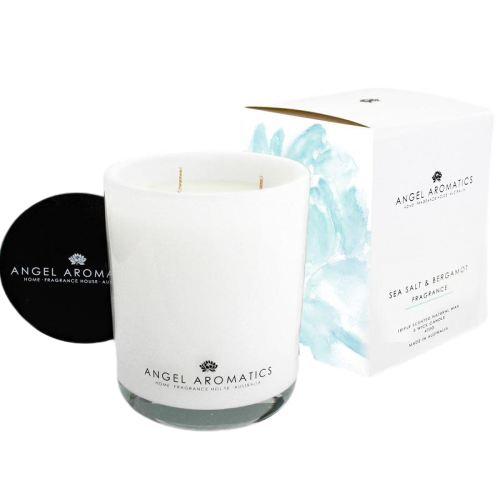 Sea Salt & Bergamot Glass Candle