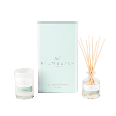 Palm Beach Mini Candle & Diffuser Gift Pack Sea Salt